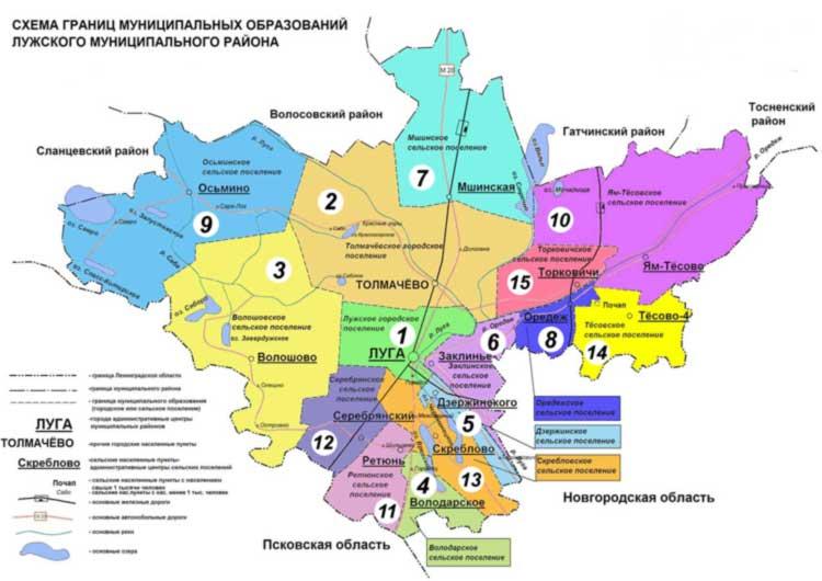 Схема Лужского района